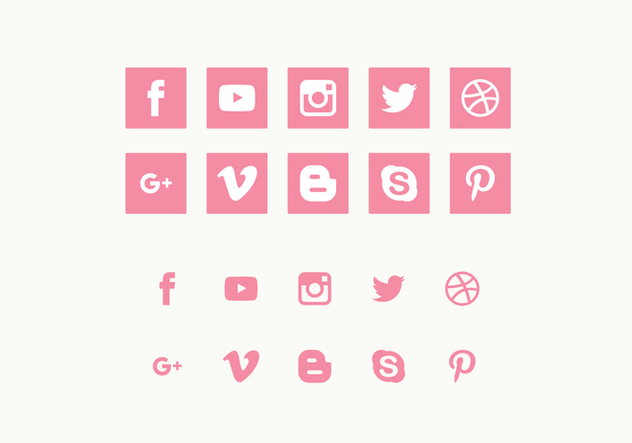 Vector Set of Social Media Icons - vector #423111 gratis