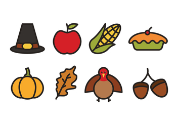 Thanksgiving Icons - Free vector #423151