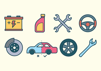 Auto Repair Icon Set - Free vector #423161