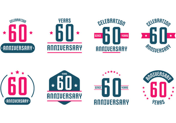 60th Anniversary Signs - бесплатный vector #423201