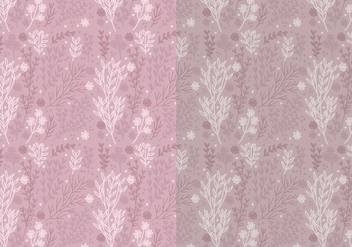 Two Vector Patterns of Hand Drawn Floral Elements - vector gratuit #423331