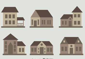 Chalet Collection Flat Vector - Kostenloses vector #423361