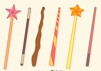 Magic Stick Collection Vectors - vector gratuit #423441