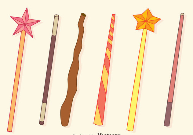 Magic Stick Collection Vectors - Free vector #423441