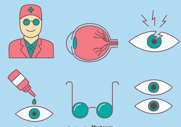 Eye Doctor Icons Vector - vector gratuit #423451