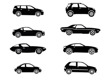 Silhouette Carros Icons Vector - vector gratuit #423521