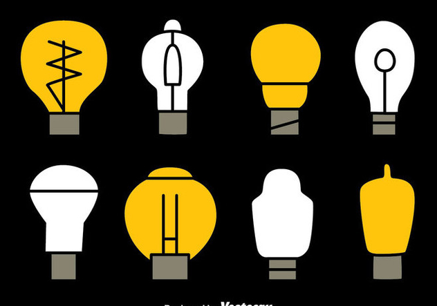 Light Bulb Collection Vectors - Free vector #423531