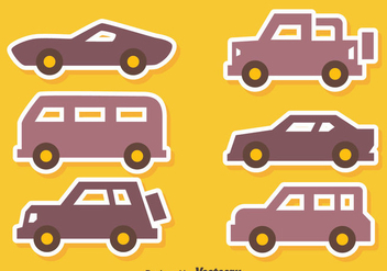Nice Car Icons Vectors - vector gratuit #423541