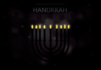 Happy Hanukkah Illustration - Free vector #423551