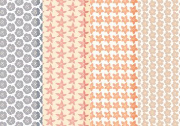 Vector Collection of Floral Patterns - vector gratuit #423581
