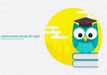 Owl Mascot For Science Lab - vector #423611 gratis