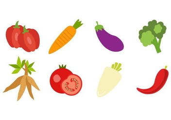 Free Fresh Vegetable Icons Vector - vector #423671 gratis