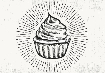 Free Hand Drawn Cupcake Background - бесплатный vector #423781