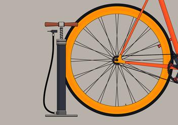 Air Pump and Bicycle - vector gratuit #423791