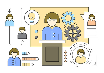 Illustration About Employee Organization in Vector - Free vector #423801