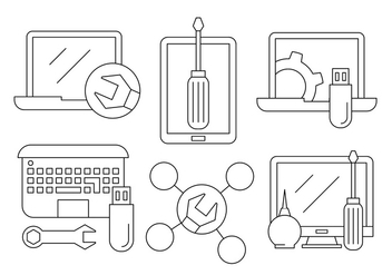 Free Computer Repair Icons - vector #423821 gratis