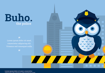Buho Police Character Vector - Free vector #423871