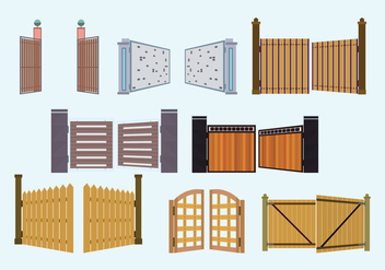 Open Gate Vector Collection - vector gratuit #423911