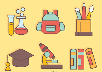 Nice School Equipment Vectors - vector gratuit #423921