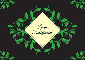 Free Leaves Background Vector - vector gratuit #424041