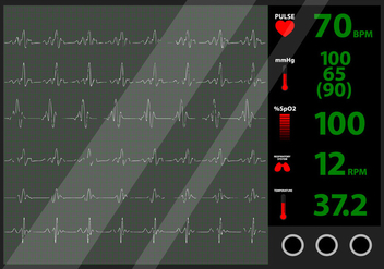 Heart Beat Monitor - бесплатный vector #424101
