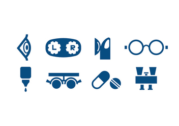 Eye Care Icon Vectors - vector gratuit #424181