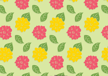 Yellow And Pink Petunia Pattern Background - Free vector #424231
