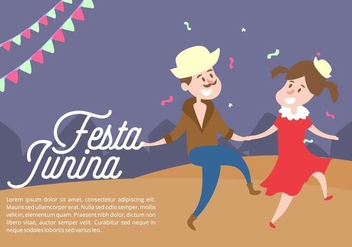 Festa Junina Background - vector gratuit #424241
