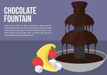 Chocolate Fountain with Fruit Vector - vector gratuit #424251