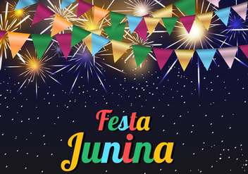 Festa Junina Template Background - vector gratuit #424261