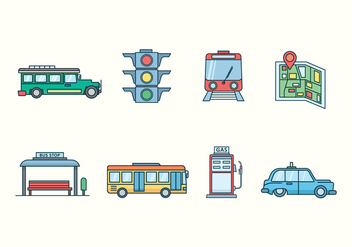 Free Transportation Icons - бесплатный vector #424301