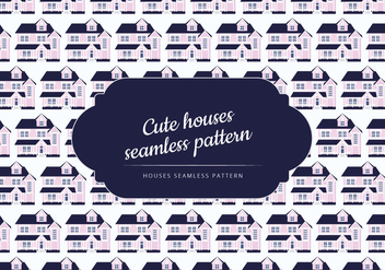 Vector Seamless Pattern of a Cute House - Free vector #424541