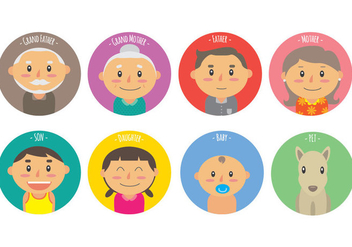 Members of the Familia Vector Icons - Free vector #424581