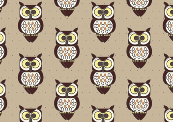 Coruja Pattern Background - vector gratuit #424611