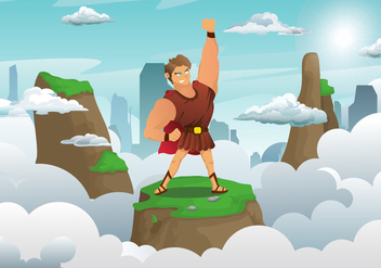 Hercules Character Illustration Vector - Free vector #424621