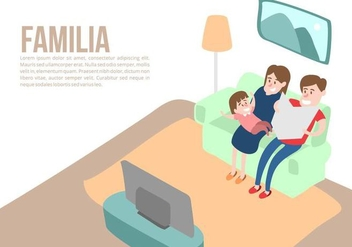 Family at Home Background Vector - бесплатный vector #424681