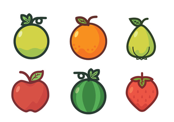 Fruit Fridge Magnet Vector Set - vector gratuit #424721