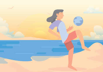 Beach Soccer Vector Set - Free vector #424731