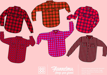 Free Red Flannel Shirt Vector Collection - Free vector #424751