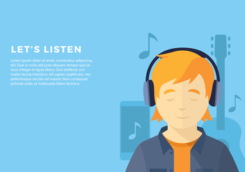 Head Phone Listening Pop Free Vector - Free vector #424771