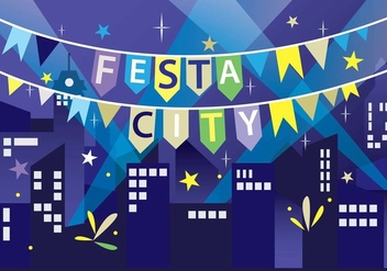 Festa Celebration in the City Vector - vector gratuit #424801