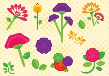 Flat Carnation Flower Free Vector - Free vector #424871