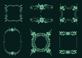 Flower Embellishments Vector - бесплатный vector #424891