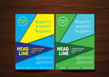 Vector Brochure Flyer design Layout template in A4 size - vector #424921 gratis