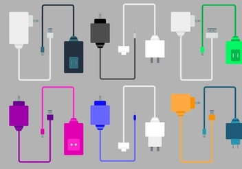 Free Phone Chargers Vector - Kostenloses vector #424941