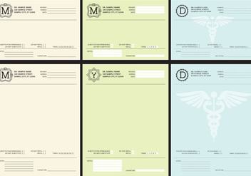Medical Prescriptions - vector gratuit #424981