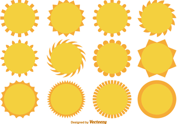 Vector Cartoon Flat Suns Collection - Kostenloses vector #425011