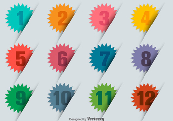 Infographic 3D Numbered Bullet Points - vector gratuit #425091