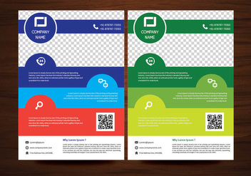 Vector Brochure Flyer design Layout template in A4 size - бесплатный vector #425141