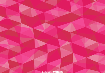 Vector Pink Polygonal Background - vector gratuit #425211